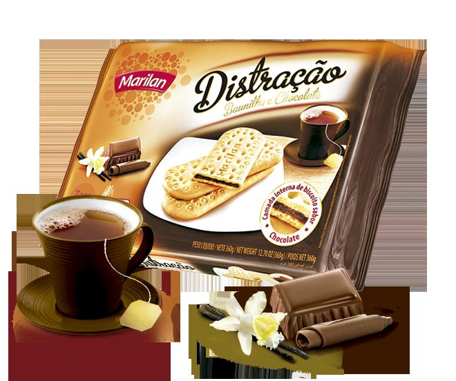Baunilha com chocolate
